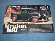 "1932 Ford Chopped Top Pickup Article ""The Krylon Kid"" Cornhusker Rod & Custom"