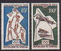 Senegal Michelnr. 288 - 289  postfrisch