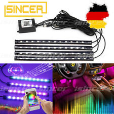 4x RGB LED Innenraumbeleuchtung Licht USB Auto Ambiente Fußraumbeleuchtung Phone