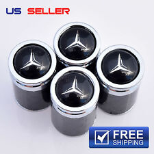 MERCEDES-BENZ CARBON FIBER VALVE STEM CAPS  WHEEL TIRE - US SELLER VC09