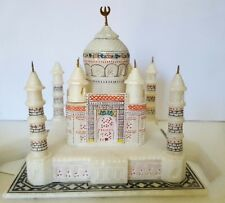 New White Taj Mahal Marble replica 15 x 15 cm. Symbol of Love.