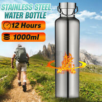 1000ML Stainless Steel Double Wall Flask Vacuum Insulated Water Bottle 12