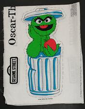 Oscar the Grouch Sesame Street Fabric Craft Panel Princess Fabrics Pattern 12144