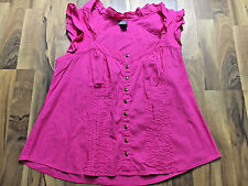 Womens Plus Size 2X Dots Hot Pink Pleated Sexy Cute Dress Tank Top Clothes