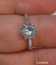 1.88 ct  Sparkling Light Blue Diamond Silver Ring