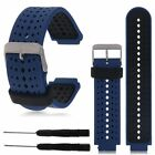 Silicone Sport Band Watch Strap For Garmin Forerunner 220 230 235 620 630 +Tools