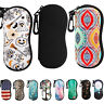 MoKo Sunglasses Soft Bag Eyeglass Case Ultra Light Neoprene Zipper w/ Belt Clip