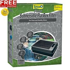 TetraPond SUBMERSIBLE FLAT BOX POND FOUNTAIN FILTER WATER CLEANER FREE 2 DAY NEW