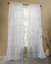 Gee Di Moda Ruffle Curtains Rod Pocket Window Curtains Panels White - 60 X 84...