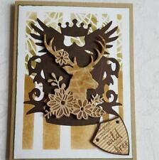 Deer Animals Metal Cutting Dies Scrapbooking Cutting Embossing Stencils Craft
