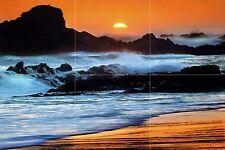 36 x 24 Mural Ceramic Ocean Sunset Decor Bath Tile 12 x 12 #365