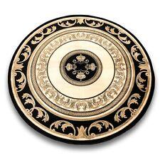 Tappeto Con Versace Motivo Rotondo Nero 200x200 Setosa Barocco Medusa Tappeto
