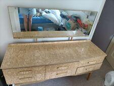 Vanity / dresser, wooden, vintage, lots of storage, 1.52m x 0.46m x 0.67m