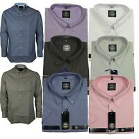 Mens King Size Oxford Casual Formal Long Sleeve Shirt in 5 Colours 2XL-8XL