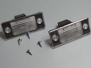 2x Number Plate Light For VW Golf V Passat Tiguan Touareg