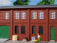 Auhagen kit 80508 NEW HO BRICK WALLS WITH WINDOW OPENINGS RED (8PC)