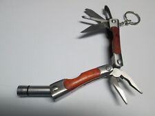 Multi-Tool Keyring Keychain Wood Grain Handle Flashlight Saw Screwdriver Opener