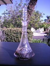 Vtg Cut Crystal Liquor Whiskey and Wine Decanter European?