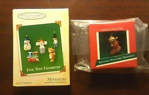 Hallmark miniature Five Tiny Favorites and Stocking Pal lot
