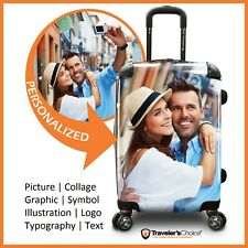 "Traveler's Choice 22"" Carry-on Customized Printing Expandable Spinner Suitcase"