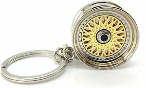Gold  Wheel Keychain Automotive Automotive Part Car Gift Key Chain Ring