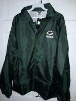 Green Bay Packers  football  windbreaker Jacket  athletic apparel NFL - NEW - S