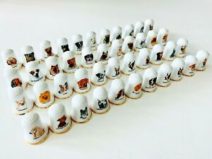 International Dogs of the World Porcelain Thimbles Dog Hound Breeds - U Pick