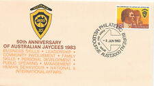 AUSTRALIA F.D.C.8/6/1983; SG889 50th ANNIVERSARY AUSTRLIAN JAYCEES;BUREAU CANCEL
