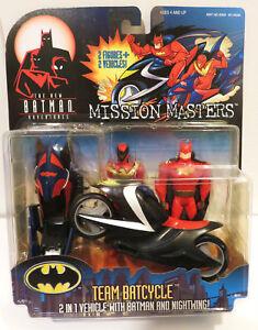 1998 BTAS Batman Animated Mission Masters Team Batcycle Nightwing Figure MOC