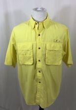 Worldwide Sportsman Men's L Yellow SS Vented Button Down Fishing Outdoors Shirt