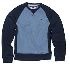 Tommy Hilfiger Men's Crew Neck Sweatshirt, Fleet Blue, Size Med