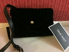 NEW Nine West Velvet Cross-Body Evening Bag Black $40 - READ New with Tags