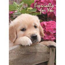 Jaune Doré Labrador Chiot Fleurs spécialement pour vous animal magic carte