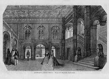 Stampa antica MOSCA MOCKBA Cremlino Russia 1860 Antique print античный печать