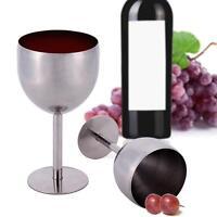 380ML Brilliant Stainless Steel Wine Glass Wine Taste Goblet Romantic Party Deco