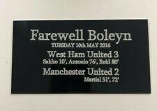 Farewell Boleyn West Ham Ground 130x70mm Engraved Plaque for Signed Shirt Frame