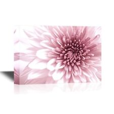 wall26 - Floral Canvas Wall Art - Pink Chrysanthemum Flowers - 24x36 inches