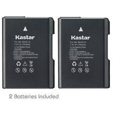 2x Kastar Battery for Nikon EN-EL14 D3100 D3200 D3300 D3400 D5100 D5200 D5300