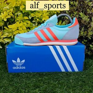 ❤ BNWB & Genuine adidas originals ® Orion Trainers in Clear Blue Red UK Size 8