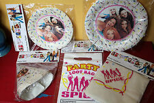 Official Rare Spice Girls Party Supplies circa 1997 Plates, Napkins, Bags, Hats