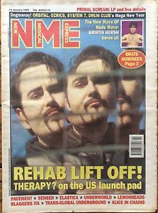 NME 15/1/94 Therapy? cover, Kristin Hersh, Blaggers ITA, Pavement