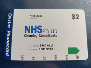 Mint $2 NHS Cleaning Consultants Phonecard Prefix 1393