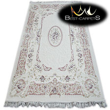 """SOFT ACRYLIC RUGS """"MIRADA"""" purple Flowers Thick And Densely Woven"""