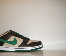 2009 Nike Dunk Low 6.0 Premium HEMP QS Sz 8 Brown Green SB Pro 420 314142-331