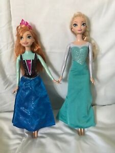 Disney Frozen Elsa and Anna Dolls both used condition Please see all Pics