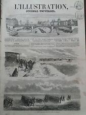 L' ILLUSTRATION 1856 N 678 OPERATION OPEREE SUR LA GLACE, DANS LE LIMAN- UKRAINE