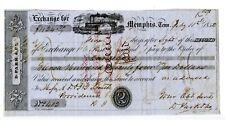 1852 Memphis, Tenn. Bill of Exchange