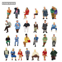 25pcs O scale Seated Figures Different 1:43 Sitting People Model Railway P4806