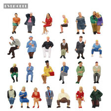 P4806 25 pcs All Seated Figures O scale 1:43 Painted People Model Railway NEW
