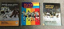 BOSTON BRUINS YEARBOOKS & PROGRAM 1970'S